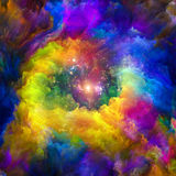 Synergies of Virtual Canvas. Color Explosion series. Design composed of vibrant paint and rich texture as a metaphor on the subject of imagination, creativity stock illustration