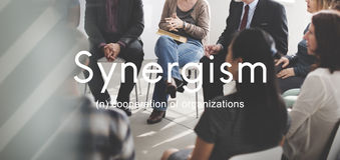Synergism Team People Graphic Concept Fotografering för Bildbyråer