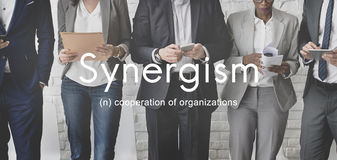 Synergism Team People Graphic Concept Foto de Stock Royalty Free
