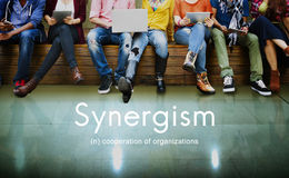 Synergisme Team People Graphic Concept Stock Foto's