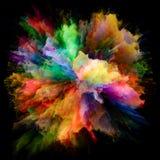 Synergismen van de Explosie van de Kleurenplons stock illustratie