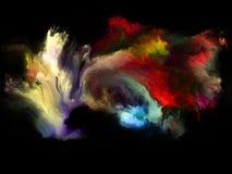 Synergismen van Kleurenmotie vector illustratie