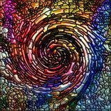 Synergismen van Spiraalvormige Kleur royalty-vrije illustratie