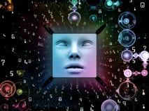Synergismen van Super Menselijke AI royalty-vrije illustratie