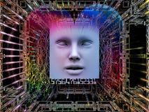Synergismen van Super Menselijke AI stock illustratie