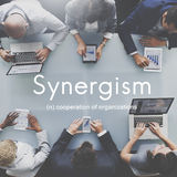 Synergismus Team People Graphic Concept Lizenzfreies Stockbild