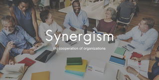 Synergismus Team People Graphic Concept Lizenzfreies Stockfoto