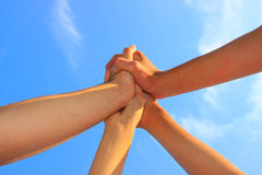 Synergy. Symbol of teamwork, as a background Stock Photography