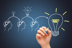 Great Idea Development By Synergy Teamwork royalty free stock images