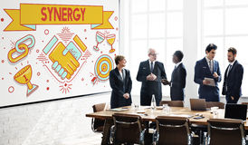 Synergy Collaboration Cooperation Teamwork Concept Royalty Free Stock Image