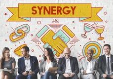 Synergy Collaboration Cooperation Teamwork Concept. Business Synergy Teamwork Cooperation Concept Stock Photos