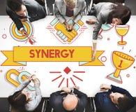 Synergy Collaboration Cooperation Teamwork Concept. Synergy Collaboration Cooperation Teamwork Unity Stock Photos