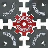 Synergy Gears - Teamwork In Action Stock Photography