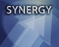 Synergy illustration Stock Images