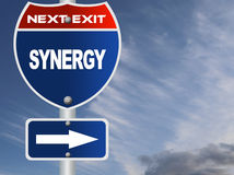 Synergy road sign Royalty Free Stock Images