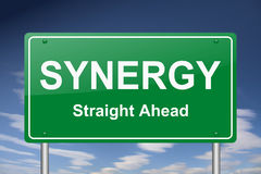 Synergy sign Royalty Free Stock Photo