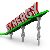 Synergy - Teamwork People Partner for Combined Strength Royalty Free Stock Photography