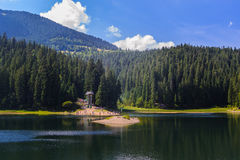 Synevir lake in the Carpathian stock photos