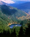 Synevyr Lake autumn view Royalty Free Stock Photos