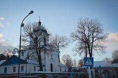 Synkovichi, BIELORRUSIA - 26 de febrero de 2017 Ortodoxia del monasterio de Zhyrovichy foto de archivo libre de regalías