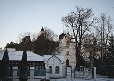 Synkovichi, BIELORRUSIA - 26 de febrero de 2017 Ortodoxia del monasterio de Zhyrovichy fotografía de archivo libre de regalías