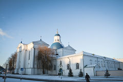 Synkovichi, WIT-RUSLAND - Februari 26, 2017 Orthodoxy van het Zhyrovichyklooster stock afbeelding