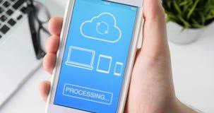 Synkronisering av mappen på alla apparater genom att använda smartphonen arkivfilmer