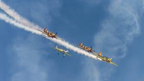synkront flyg Fotografering för Bildbyråer
