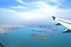 synlig vinge för motorjetsikt Arkivfoton