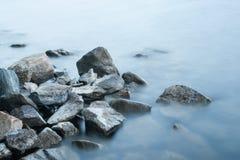 synligt långt vatten Arkivbild