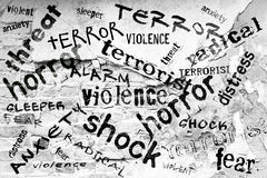 Synonyms of Terror Stock Photo