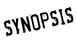 Synopsis rubber stamp Royalty Free Stock Photo