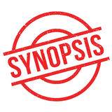 Synopsis rubber stamp Royalty Free Stock Image