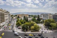 Syntagma-Konstitutionsquadrat, Athen, Griechenland lizenzfreie stockfotos
