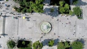 Syntagma materiału filmowego Vertical Kwadratowy Powietrzny strzał zbiory wideo
