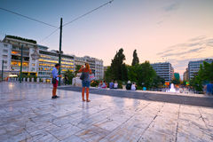 Syntagma sguare. Stock Images