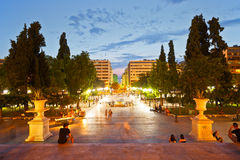 Syntagma sguare. Royalty Free Stock Photos