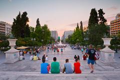 Syntagma sguare. Royalty Free Stock Photo
