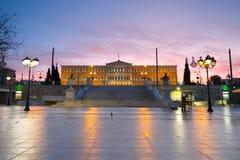 Syntagma square, Athens. Royalty Free Stock Photos