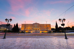 Syntagma square, Athens. Royalty Free Stock Images