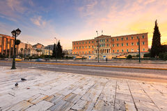 Syntagma square, Athens. Royalty Free Stock Photography