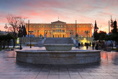 Syntagma square, Athens. Stock Images