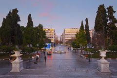 Syntagma square, Athens. Stock Image
