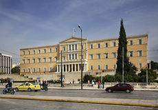 Syntagma Square in Athens. Greece Royalty Free Stock Photo