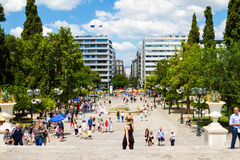 Syntagma Square, in Athens, Greece Royalty Free Stock Photography