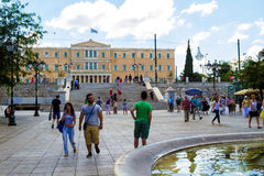Syntagma Square, in Athens, Greece Royalty Free Stock Images