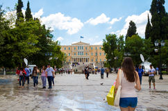 Syntagma Square, in Athens, Greece Stock Photos