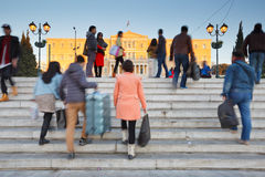 Syntagma square, Athens. Royalty Free Stock Image