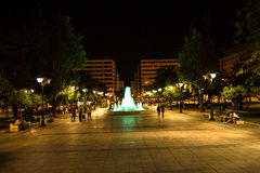 Syntagma Square at night, in Athens, Greece Stock Photo