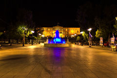 Syntagma Square during the night, in Athens, Greece Stock Photo